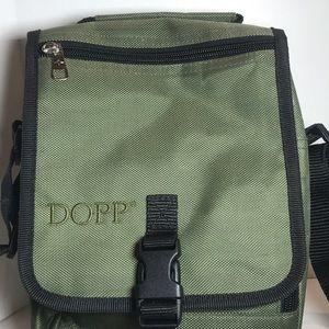 Dopp Green Canvas Shoulder Bag